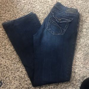 Silver Suki Surplus Boot Cut Size 28